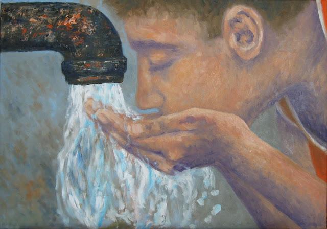Recompensa unei zile toride - pictura ulei/panza 50x70cm