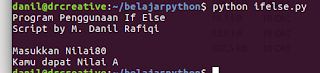 Tutorial Python - Contoh If Else Python