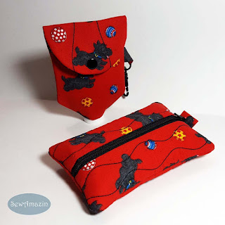 Playful Scottie Dog Accessories, Tissue Case, Hand Sanitizer Bottle Cover