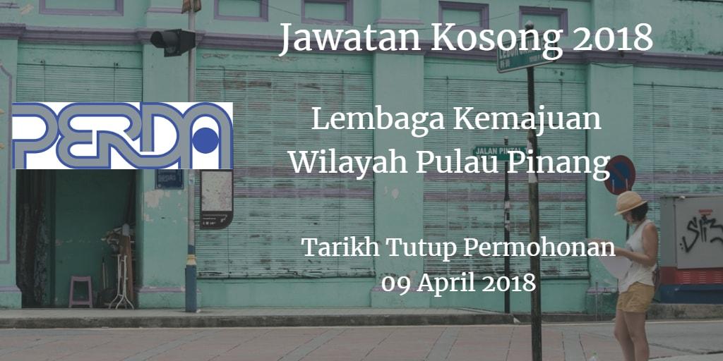 Jawatan Kosong PERDA 09 April 2018