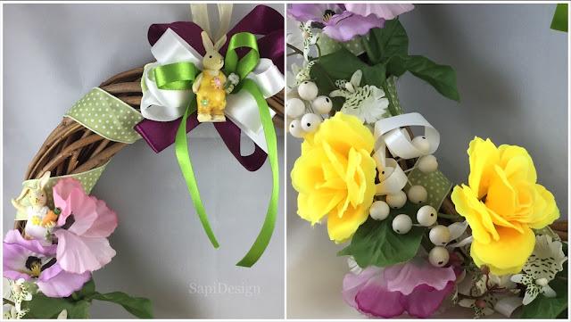 pääsiäinen kranssi kevät Easter wreath spring cover picture SapiDesign