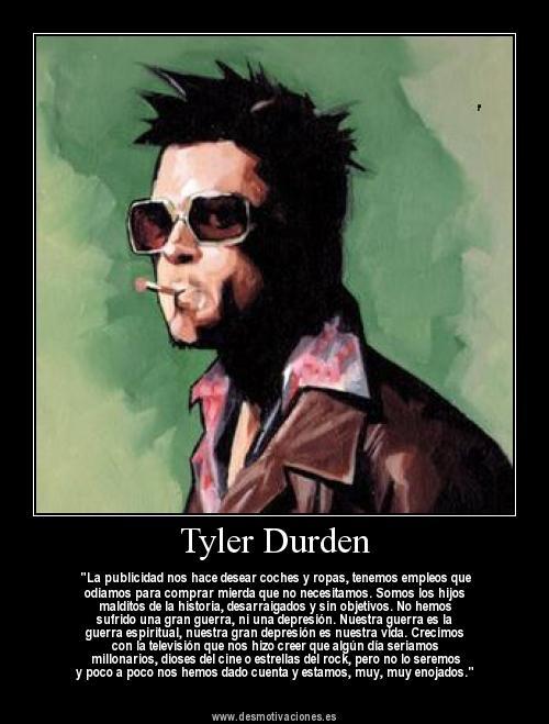 Tyler Durden en el Club de La lucha · conlosochosentidos.es