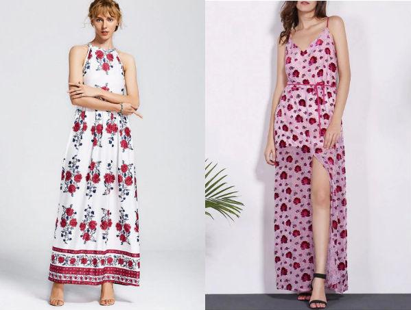 Vestido Floral Longo Estampado Compre Online