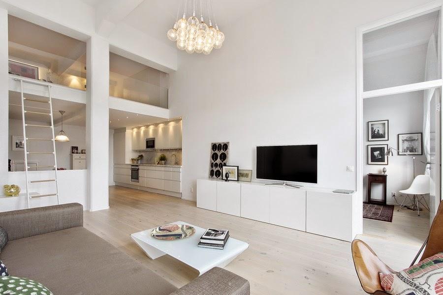 White Loft Apartment Design Ideas ~ Best of Home Designing ...
