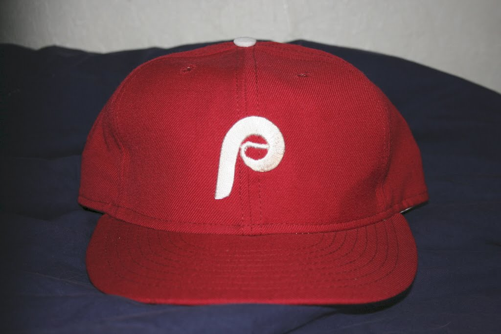 a245c657b The Philadelphia Phillies were the last MLB team to wear Wilson caps on the  field in 1987.