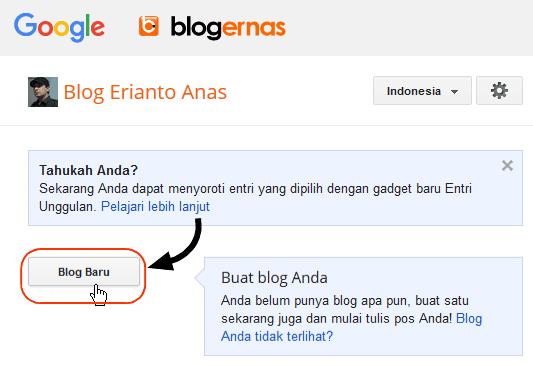 Cara Buat Blog Gratis dengan Blogger Full Gambar