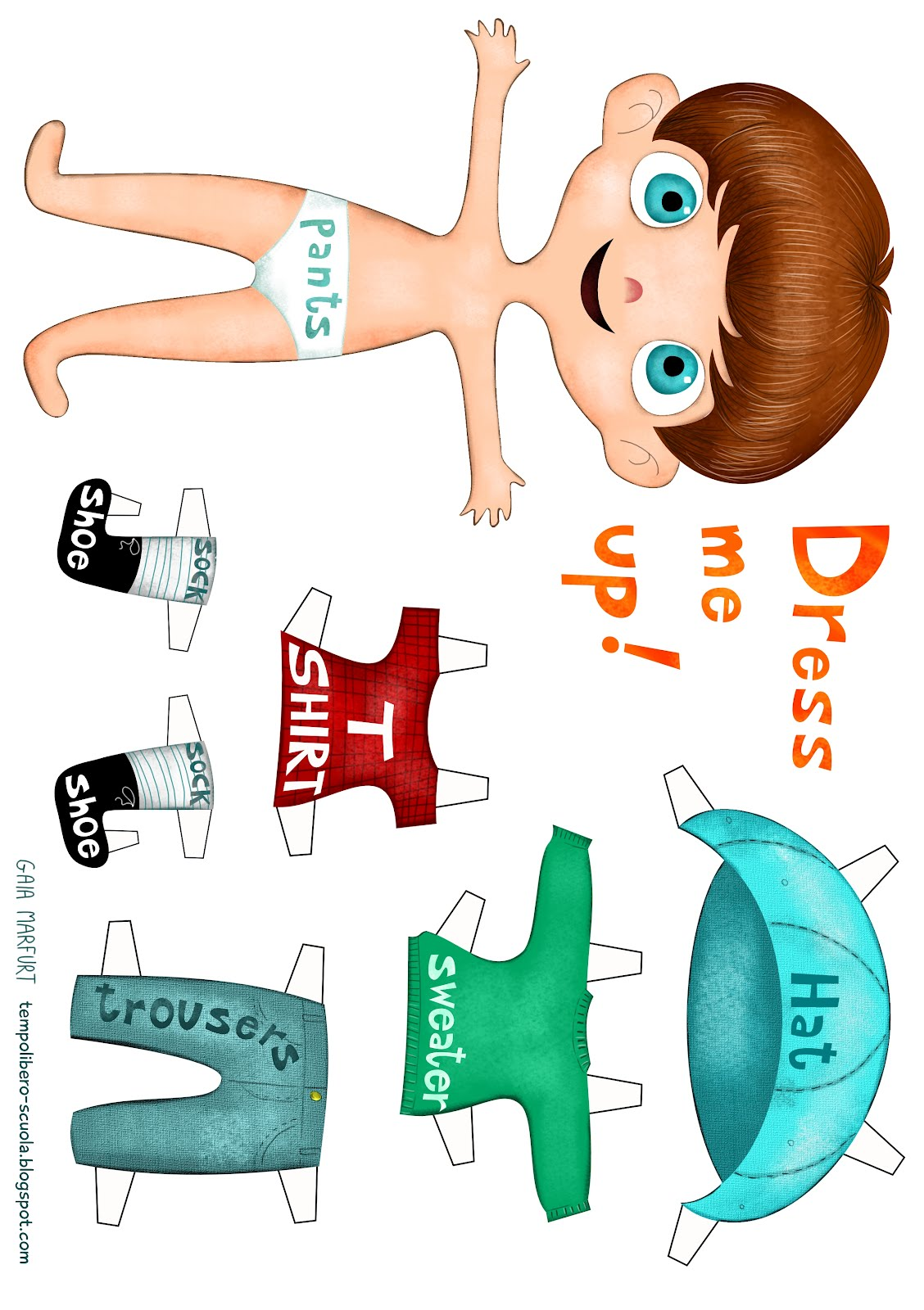Tempo Libero Dress Me Up English Learning With A Paperdoll