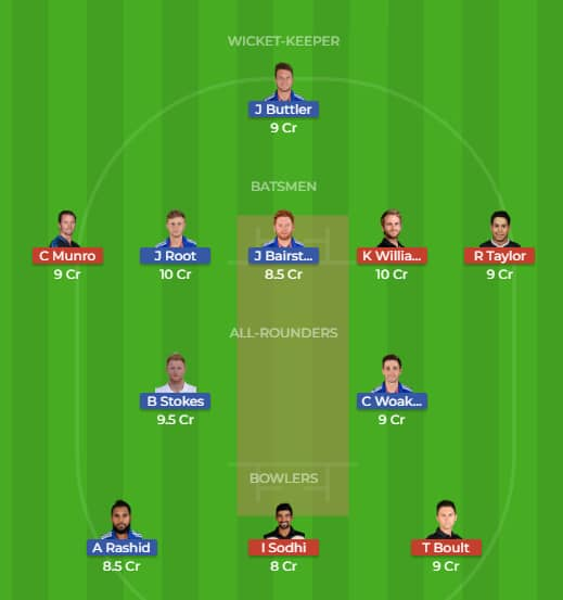 New Zealand vs England Dream 11 Predictions