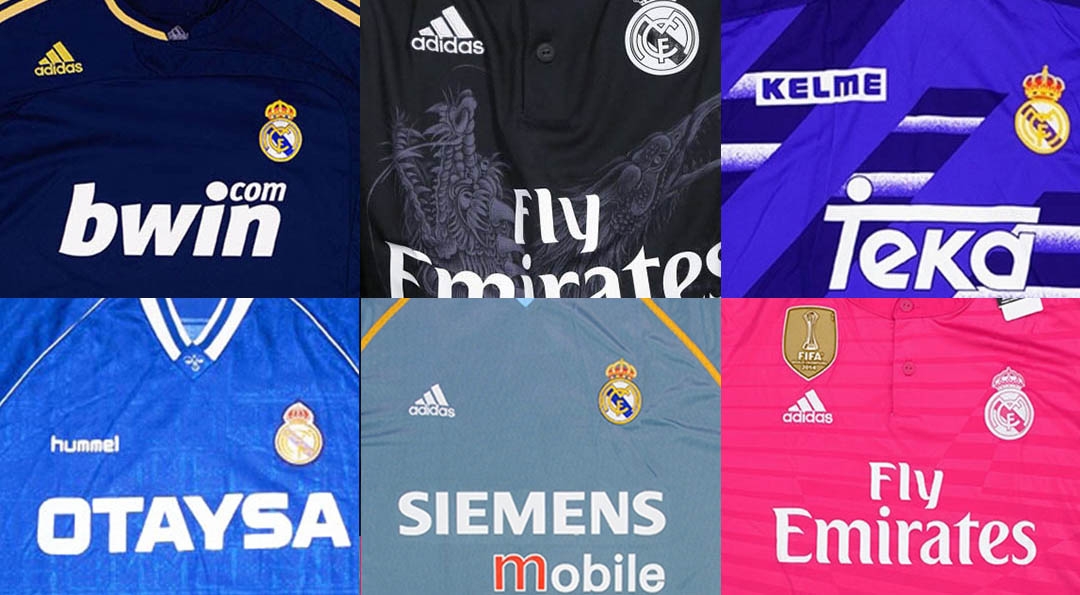 19c95973 ... giants until 25 years ago had the same kits for several seasons,  respectively. Let's take a look at all Real Madrid away and third strips in  history.