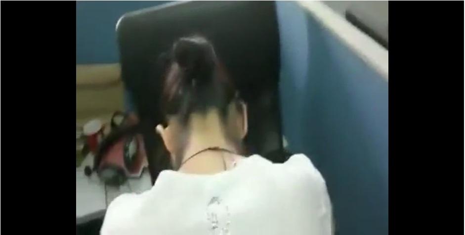 หลุดออฟฟิศไทย หนุ่มสาวแอบเอากันในที่ทำงาน คลิปของจริง