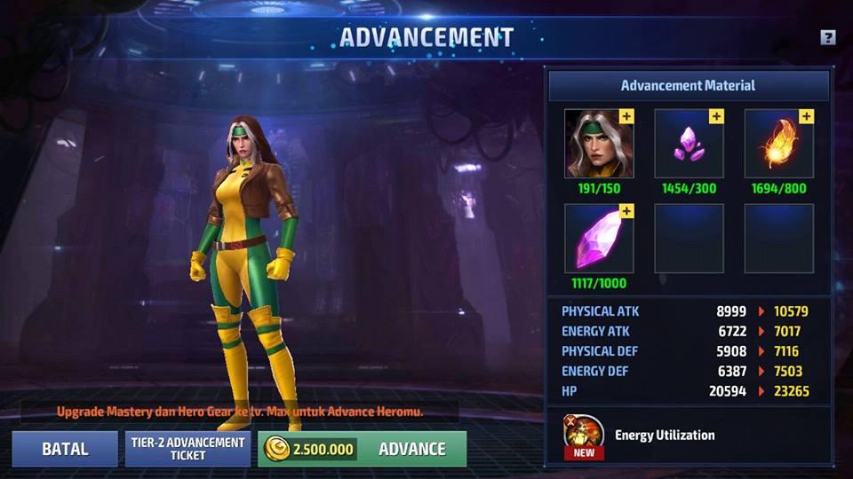 panduan tier 2 marvel future fight