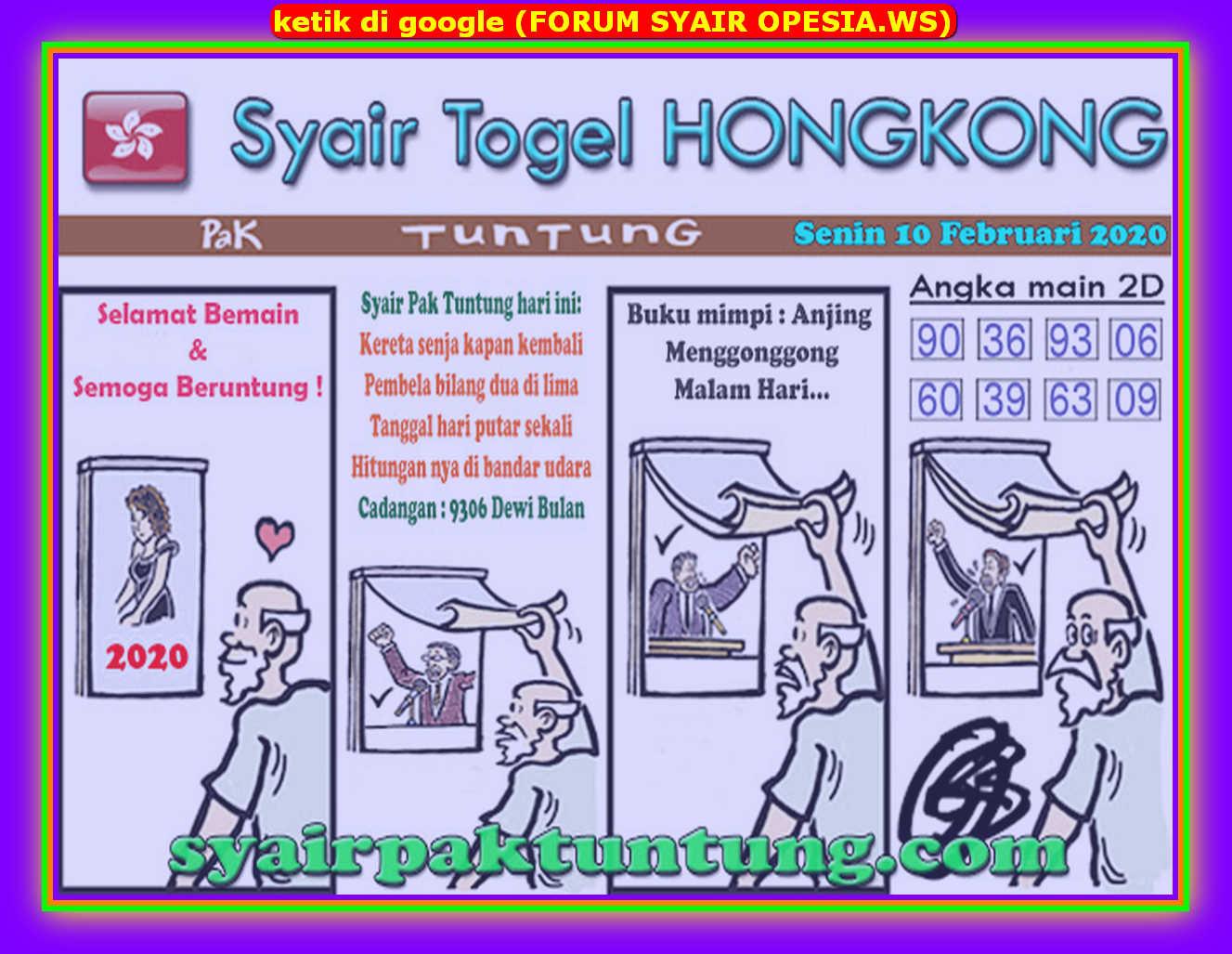 Kode syair Hongkong Senin 10 Februari 2020 87
