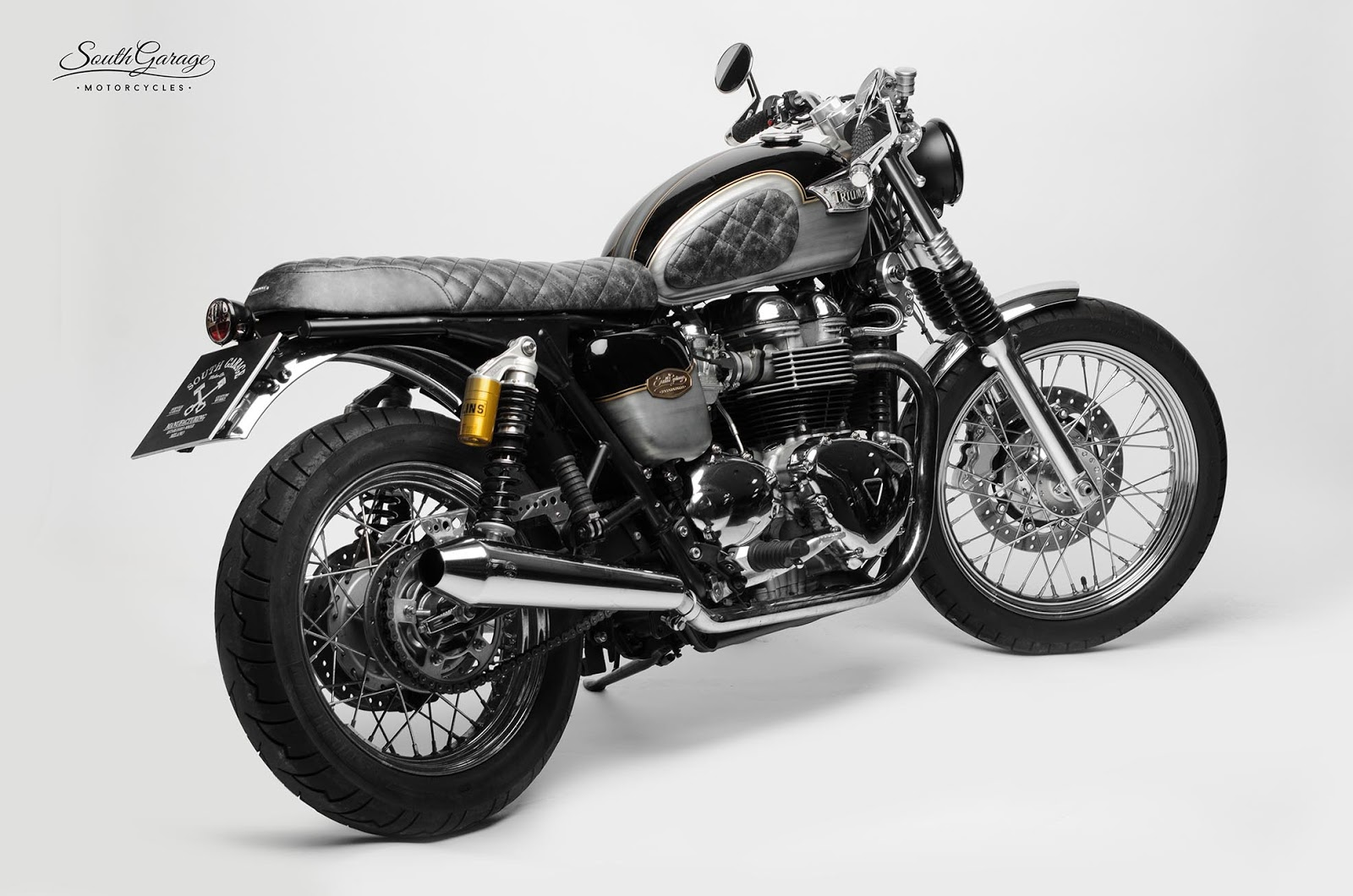Hell kustom triumph bonneville by south garage motorcycles - Garage peugeot bonneville ...