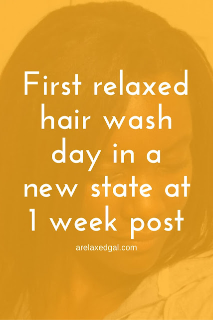 Relaxed Hair Wash Day: 1 Week Post 11/11 Relaxer Touch Up | arelaxedgal.com