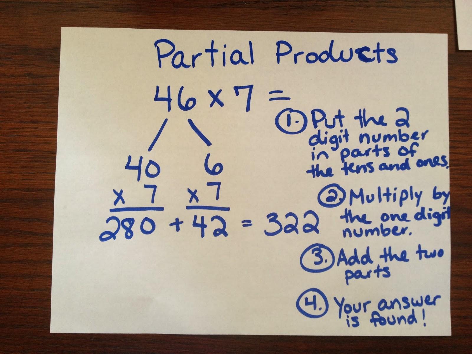 Mrs Bass 3rd Grade Blog 2 Digit X 1 Digit Multiplication