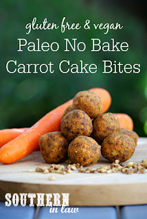 Paleo No Bake Carrot Cake Bliss Balls Recipe