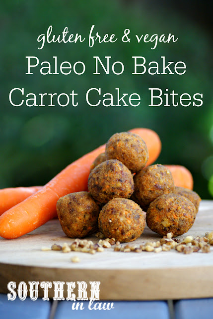 Paleo No Bake Carrot Cake Balls Recipe - raw bites, gluten free, vegan, egg free, dairy free, sugar free, clean eating recipe