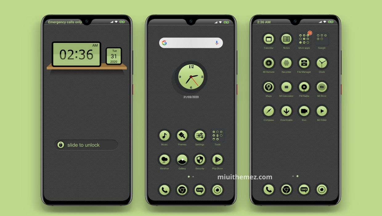 Green Circle MIUI 11 Theme
