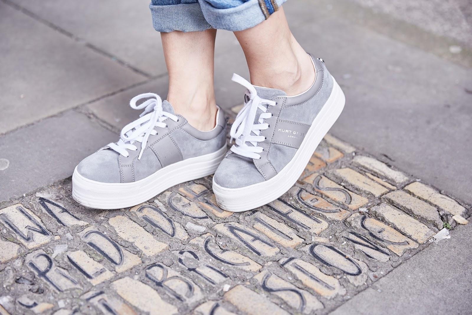 grey trainers kurt geiger