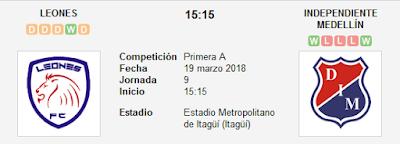 Leones vs Independiente Medellin en VIVO