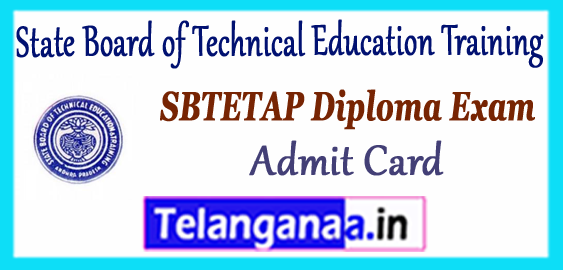 AP SBTET State Board of Technical Education Training Andhra Pradesh Diploma Admit Card 2017