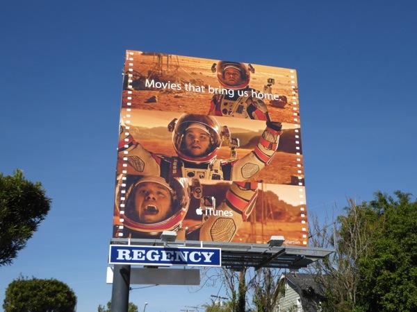 The Martian iTunes movie billboard