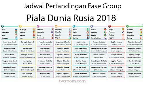 Jadwal Piala Dunia Rusia 2018