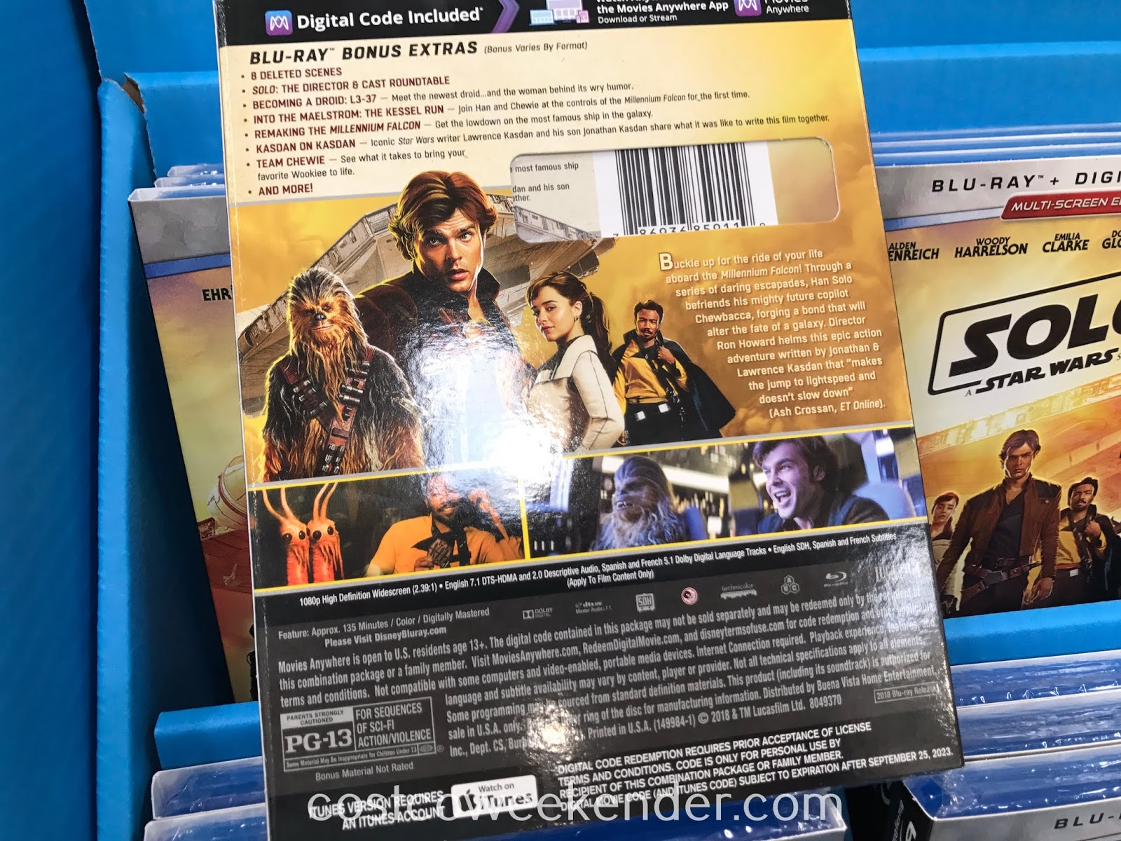 Costco 1274136 - Solo: A Star Wars Story Blu-ray: great for any Star Wars fan