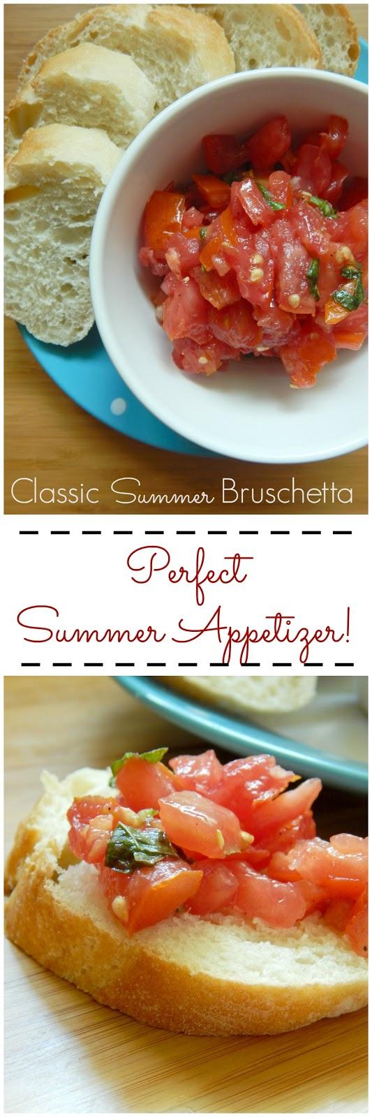 classic summer bruschetta (sweetandsavoryfood.com)