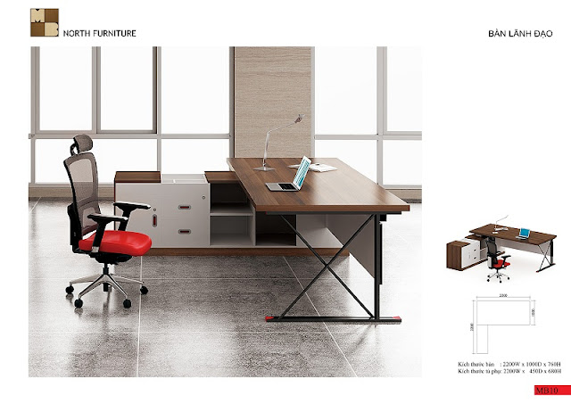Chiếc bàn veneer giám đốc này với thiết kế vô cùng cá tính, trẻ trung với mặt bàn là chất gỗ veneer độc đáo cùng với chân bàn kim loại chữ X chuyên nghiệp