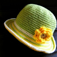 crochet sun hat children