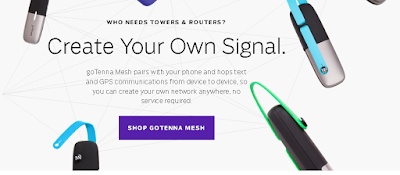 goTenna is Cool Gadget for men adventure