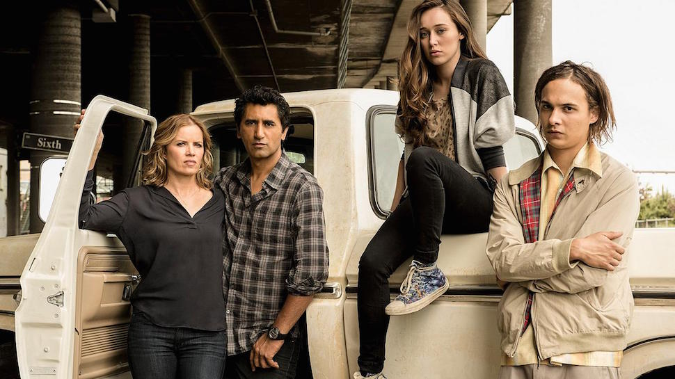 Madison, Nick, Alicia y Travis en la primera temporada de Fear The Walking Dead