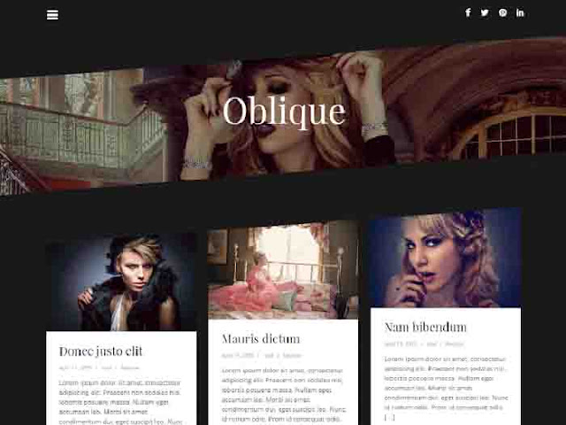 Oblique wordpress Template Free Download