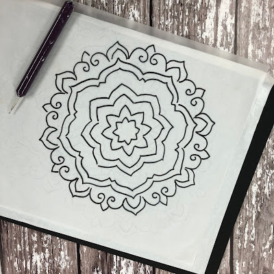 Using one mandala template, you can decorate it in so many ways