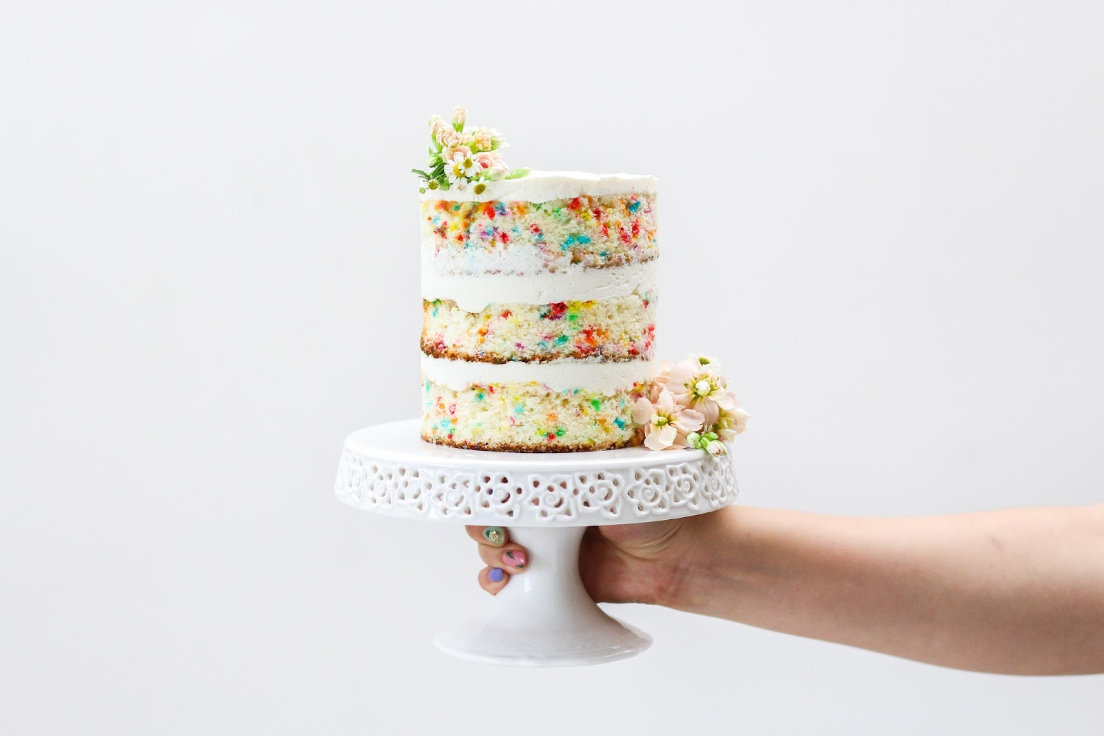 Funfetti Cake with Whipped Cream Cheese Frosting | Constellation ...