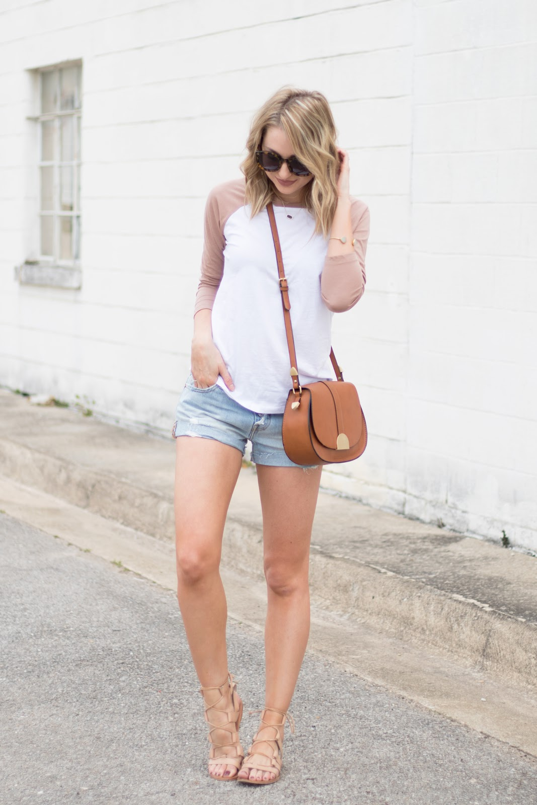 Spring t-shirt and shorts combo