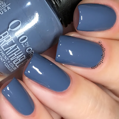 orly de-stressed denim swatch