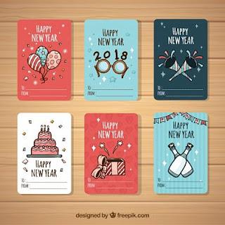Tarjetas y postales de Feliz Año Nuevo 2018 para enviar por celular