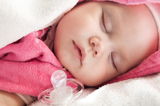 Photo of a Sleeping Baby Girl