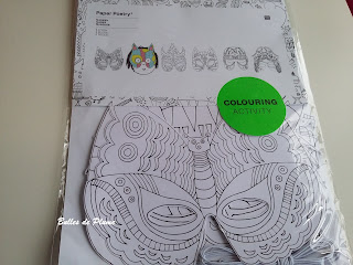 Masques à colorier Colouring Activity Rico Design (Creavea)