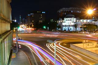 台湾旅行 台北駅近くから台北101方面を望む夜景