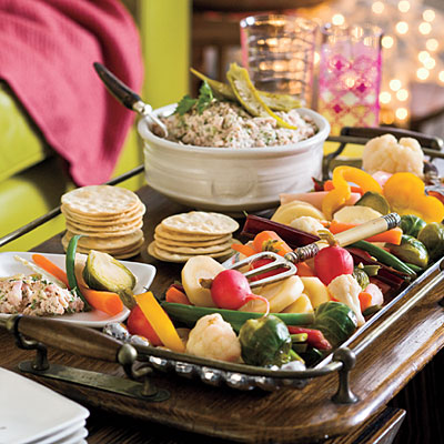 pickled veggies with a quick dip is a party appetizer that will keep your guests happy