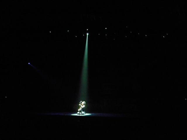 człowiek, światło, punkt, występ
