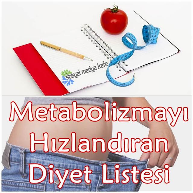 Metabolizmayı Hızlandıran Diyet Listesi