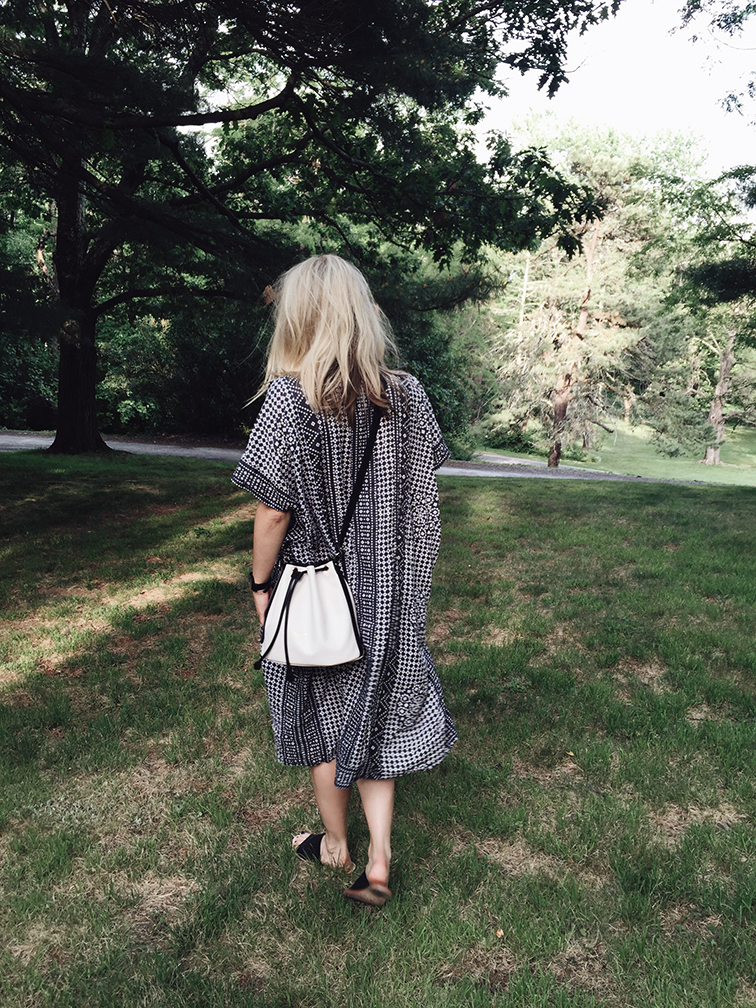 heleneisfor, Emeron Fry dress, Sol Sana sandals, Longchamp bag, Ray-Ban sunglasses