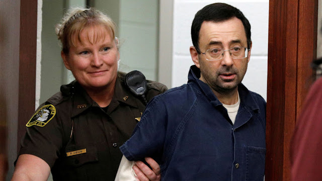 Pedophile Larry Nassar at sentencing