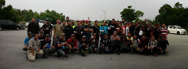 Pertandingan memancing santai di Paya Indah Wetland