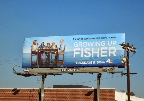 Growing Up Fisher series premiere billboard