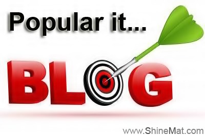 Making blog popular